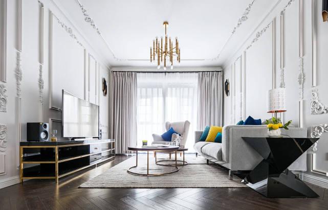 120平欧美风四居室,融入了简洁、朴实的元素