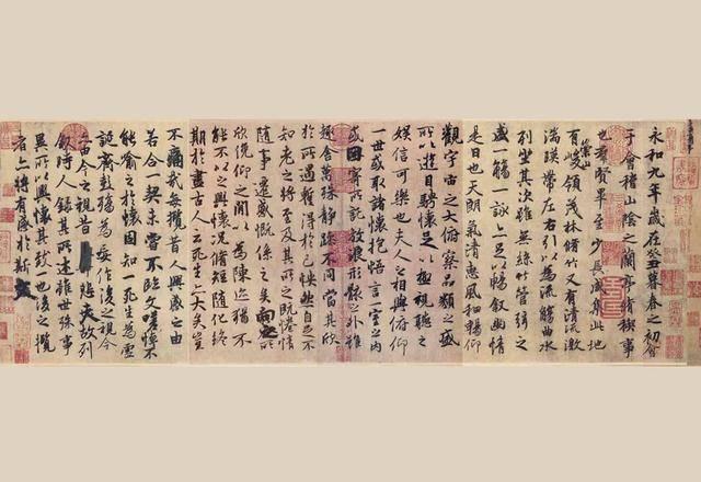 三幅宋代古画,记录了《兰亭序》失传前的画面