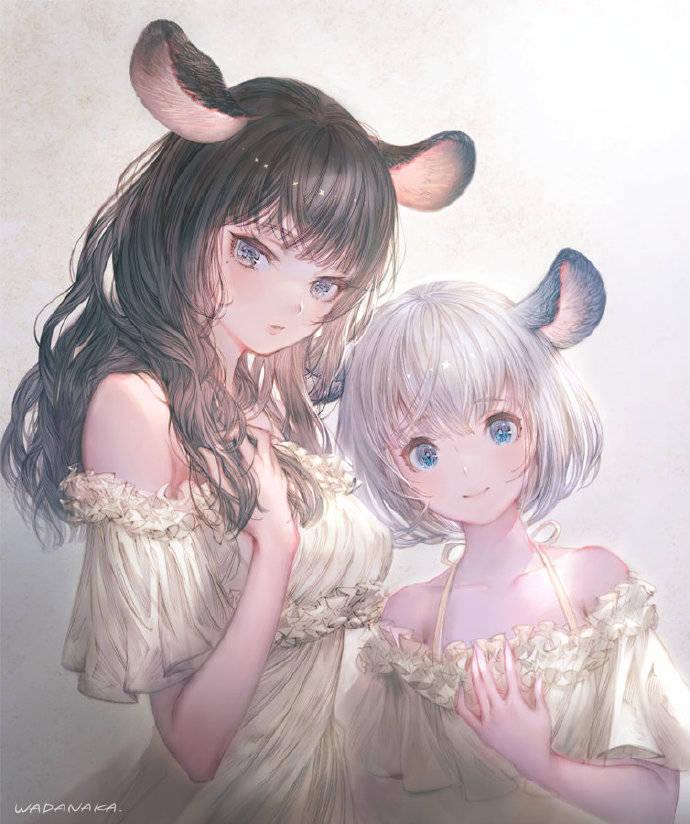 这位画师画的兽耳娘好特别啊,老鼠耳朵驴耳朵都有