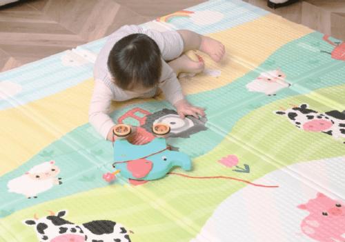 """固特棉爬行垫,秋冬季节为宝宝爬行打造安全舒适的""""自留地"""""""
