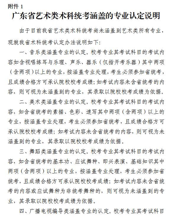 广东2022年艺术类专业考试招生办法公布!2月1日前公布联考成绩!