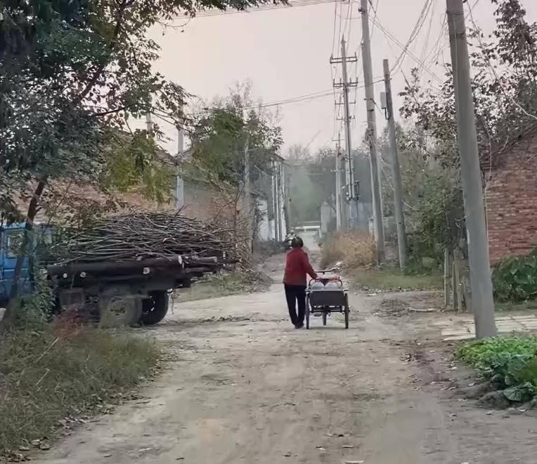 江苏一女孩在农村点外卖,外卖小哥接单后,一路跌跌撞撞送来