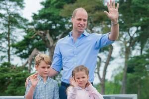 威廉王子帶兒女參與活動 7歲喬治小王子身高到爸爸胸口