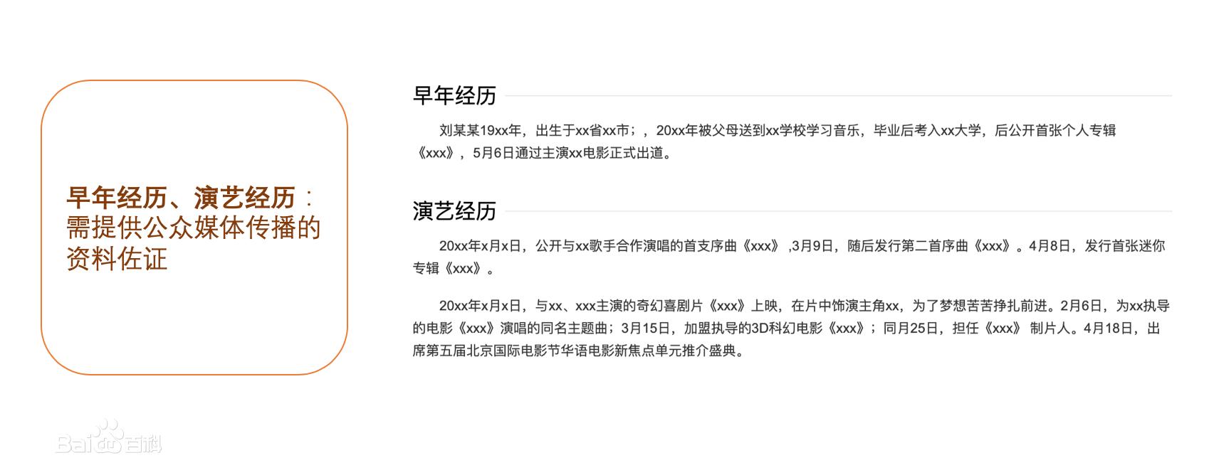 艺人演员明星人物百度百科怎么创建更新代做优化 (http://www.jiagao.net/) 百科创建 第3张