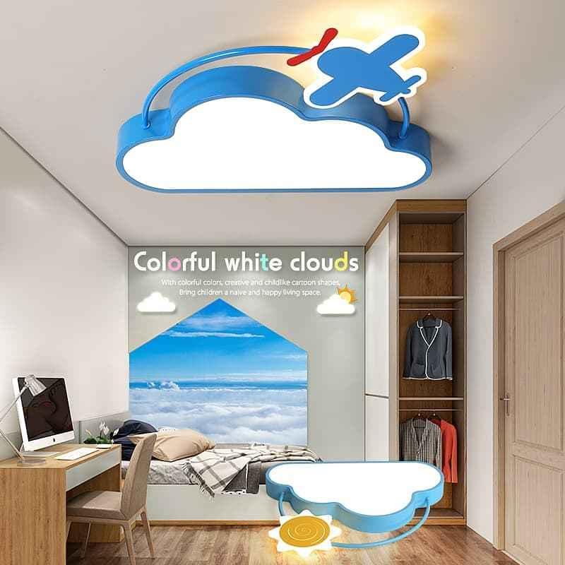 云朵+飞机+太阳儿童吸顶灯 04305