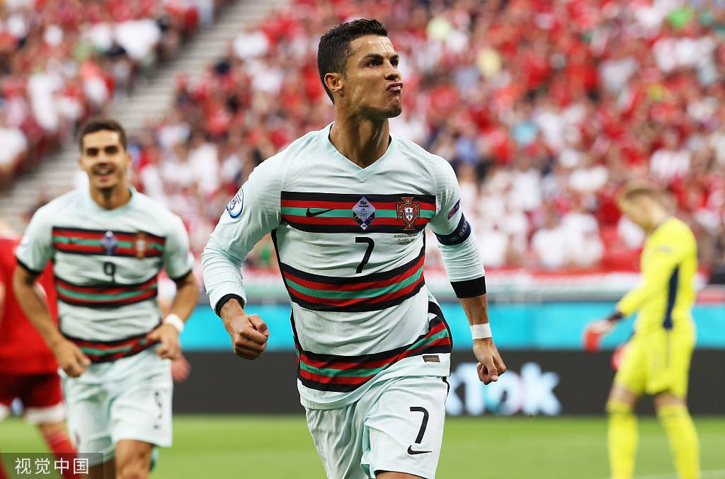 C罗双响+加冕欧洲杯射手王 葡萄牙3-0匈牙利