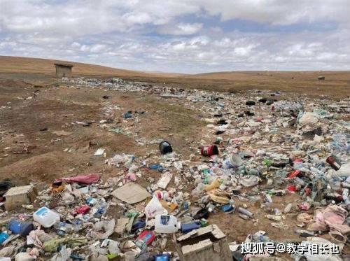 青藏高原可可西里地区再现巨大垃圾带