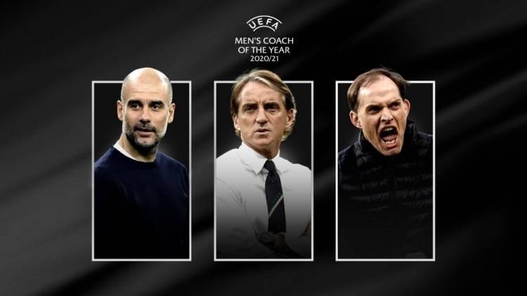 欧足联年度最佳教练候选:瓜迪奥拉 曼奇尼 图赫尔