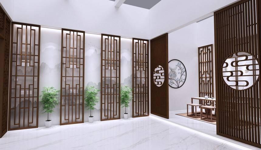 连锁餐厅装修常用仿木纹铝合金屏风