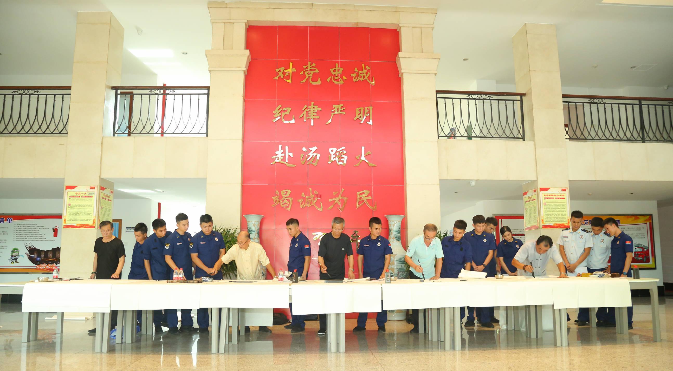 """三亚市消防救援支队开展""""风华百年 蓝焰闪耀""""文学作品创作活动"""