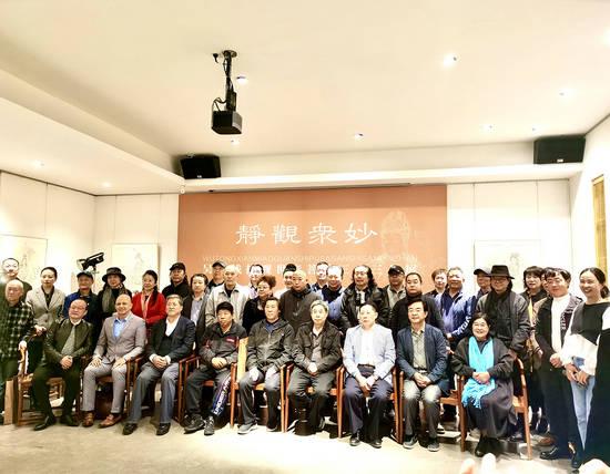 静观众妙——吴彤线描观世音菩萨三十三品艺术展在北京睿德轩艺术馆开幕