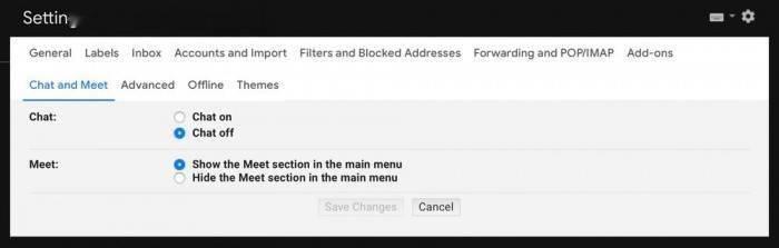 Gmail 新设置:可隐藏侧边栏的 Meet 菜单