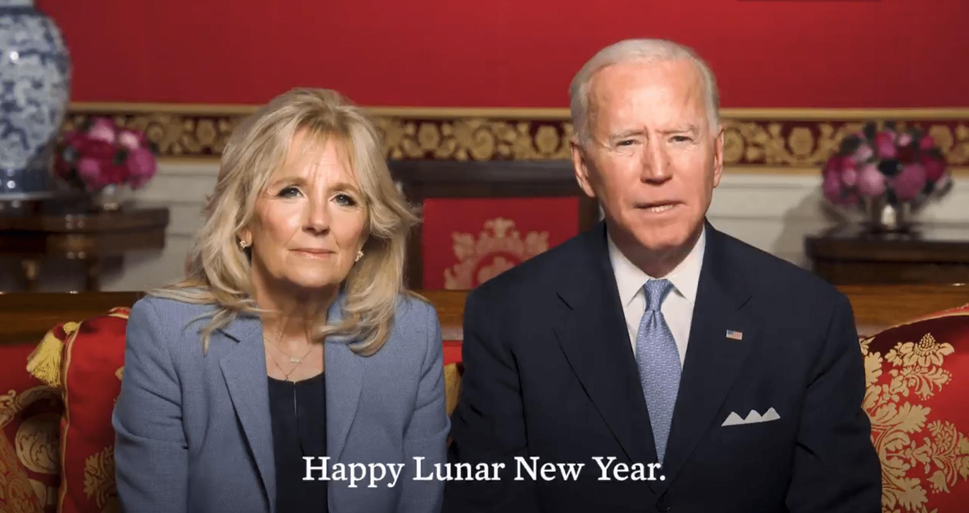 美国总统拜登和第一夫人发表春节祝福