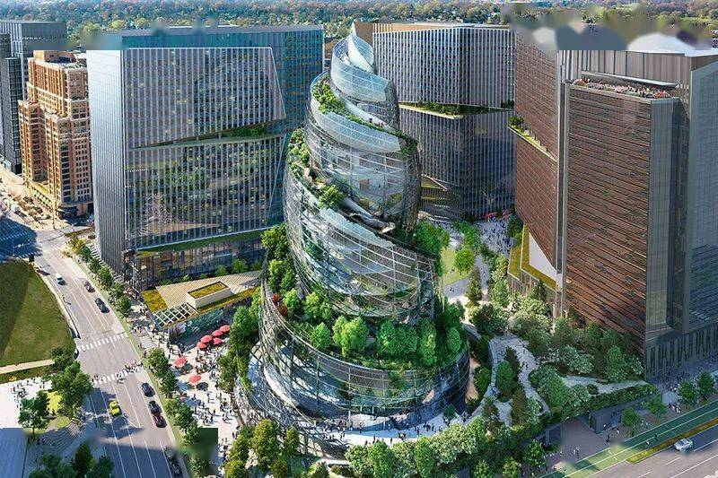 亚马逊总部建筑设计图曝光!网友:这是便便?