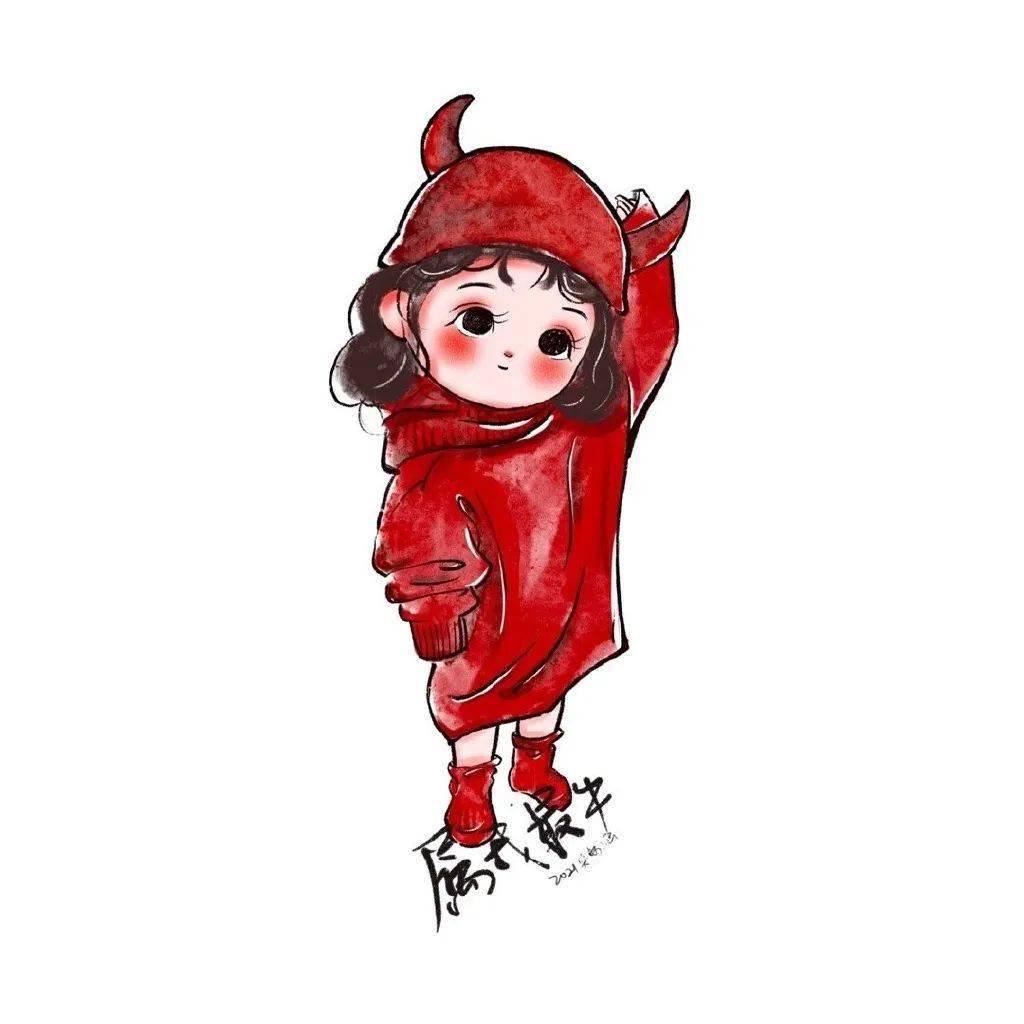 红色闺蜜头像  第19张