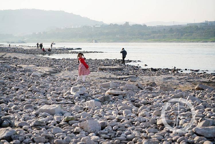 晒太阳、逛河滩……春天的长江边成市民游玩打卡地