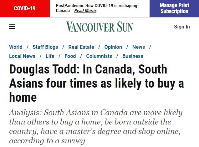 加拿大最喜欢的买家不是中国人!最新调查:他们爱买房是本地人的四倍!