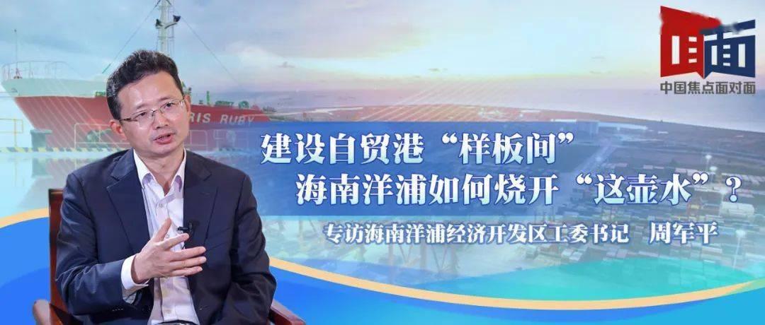 """中国焦点面对面:建设自贸港""""样板间"""",海南洋浦如何烧开""""这壶水""""?"""