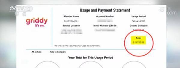 冬季风暴影响持续 电费暴涨 美国得州男子缴纳近1.7万美元电费账单
