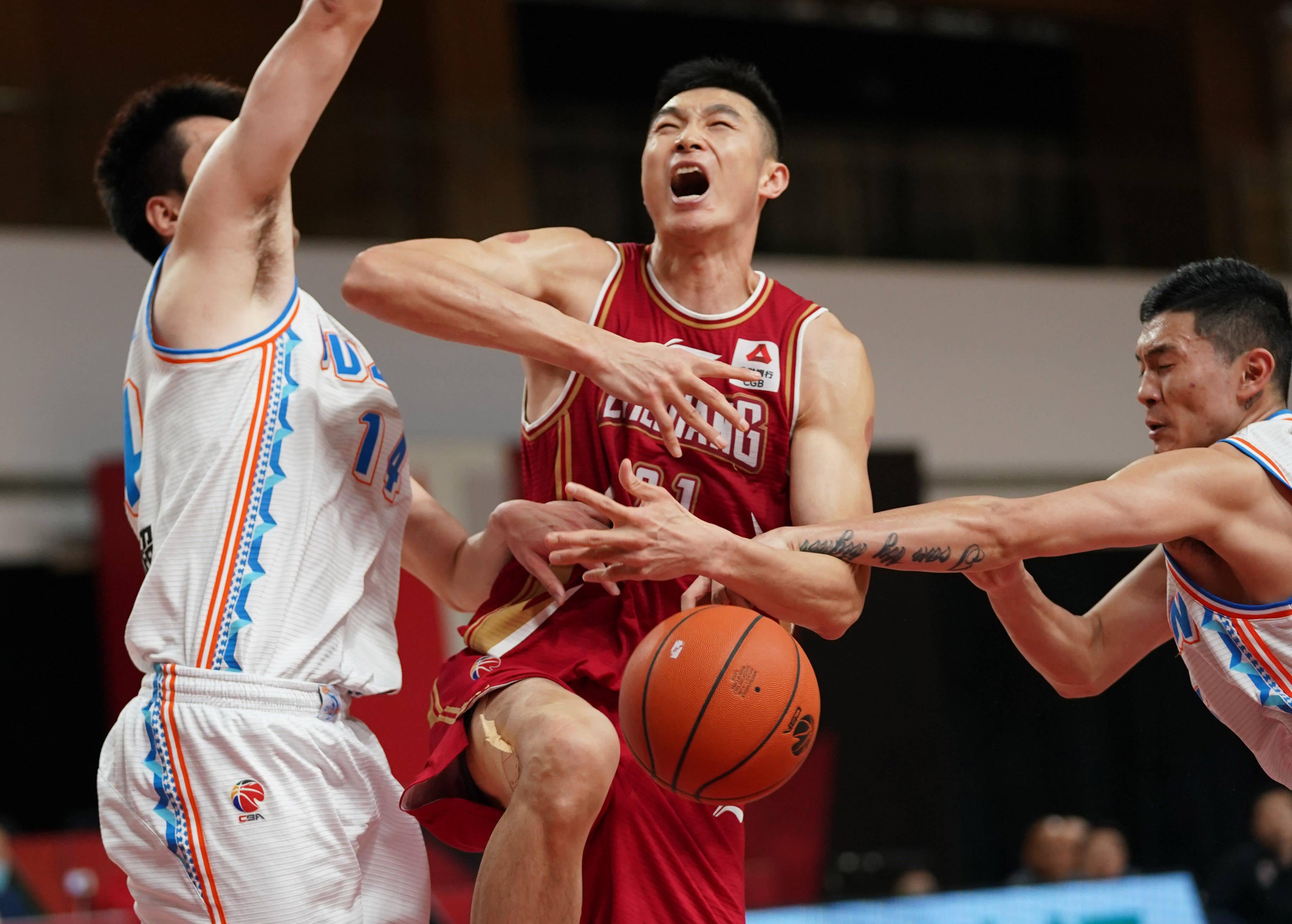 篮球——CBA常规赛第四阶段:浙江稠州金租战胜福建豹发力