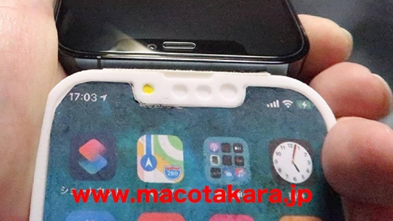 6.1英寸iPhone 13 Pro打印样机:「刘海」变得更窄了