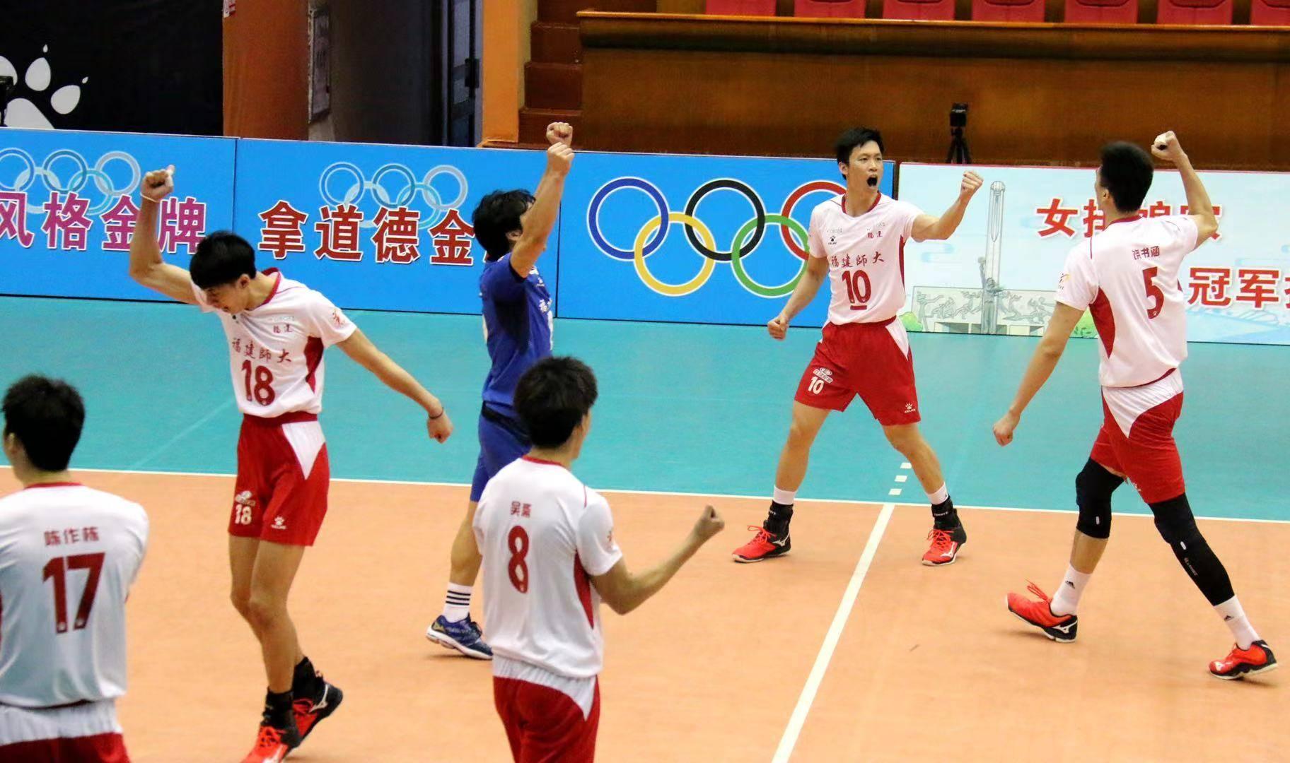第十四届全国运动会排球男子成年组(A组)资格赛第二日比赛综述——福建队战胜湖北队