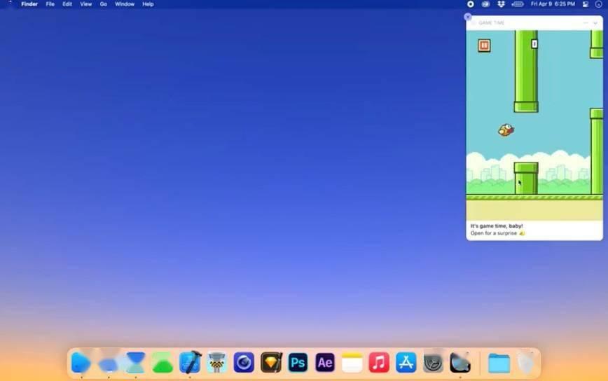 开发者在 macOS 系统通知中重现《Flappy Bird》游戏 可使用鼠标操作