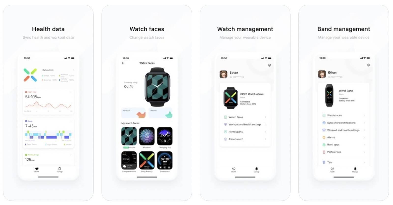 HeyTap健康应用登陆App Store OPPO Watch和手环支持iPhone了