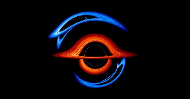 """NASA 公布双黑洞可视化图像,上演奇妙的""""宇宙华尔兹"""""""