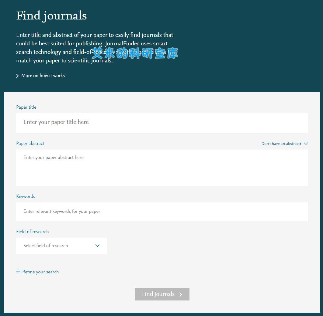 有了这个免费选刊神器,从此不会找不到要投稿的期刊  第1张