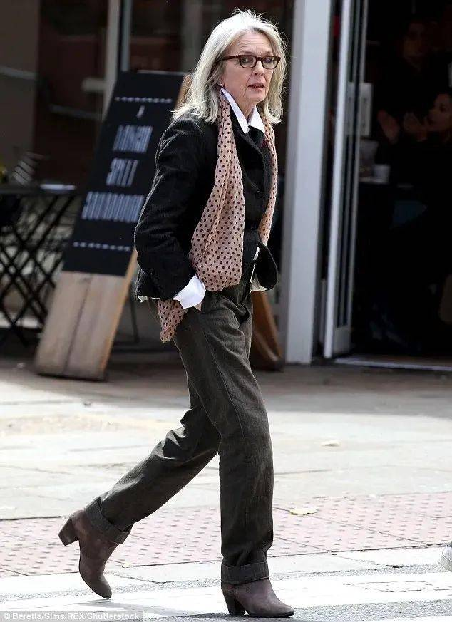衣品||75岁还是最酷的女神 如何穿成戴安·基顿? 爸爸 第35张