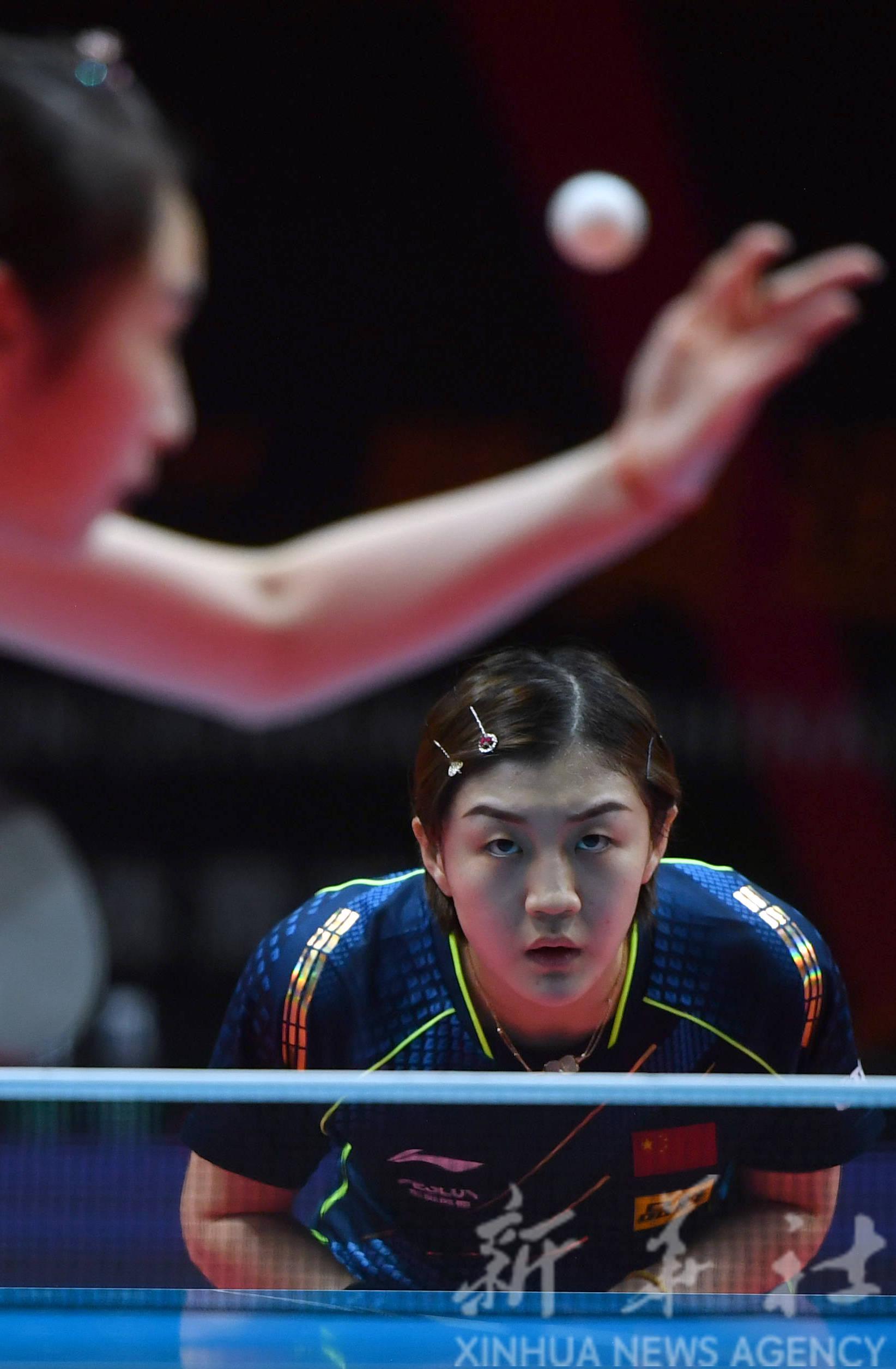 """乒乓球——""""直通WTT大满贯·世乒赛"""":陈梦胜王晓彤"""