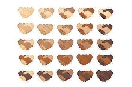 """Emoji 将更新 25 个不同肤色的""""握手""""符号:可自定义左右手皮肤颜色"""