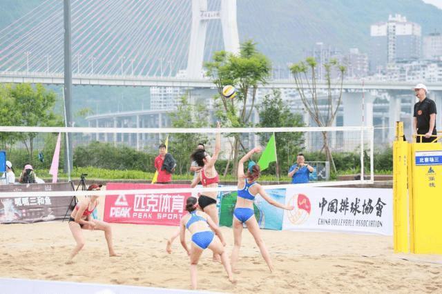 2021年全国沙滩排球冠军赛结束 海南女队林美媚/谢虹夺得亚军