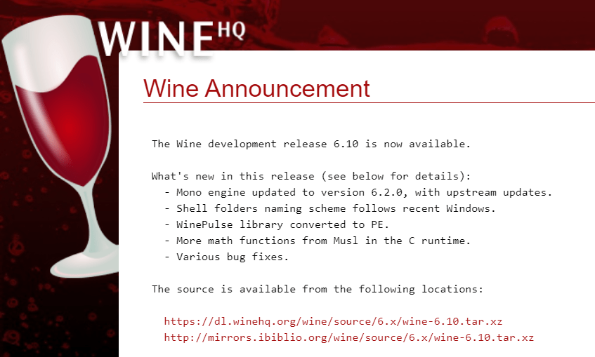 Wine 6.8 版本发布:Mono 引擎升级到 6.2.0 版本,修复《英雄联盟》等游戏崩溃问题