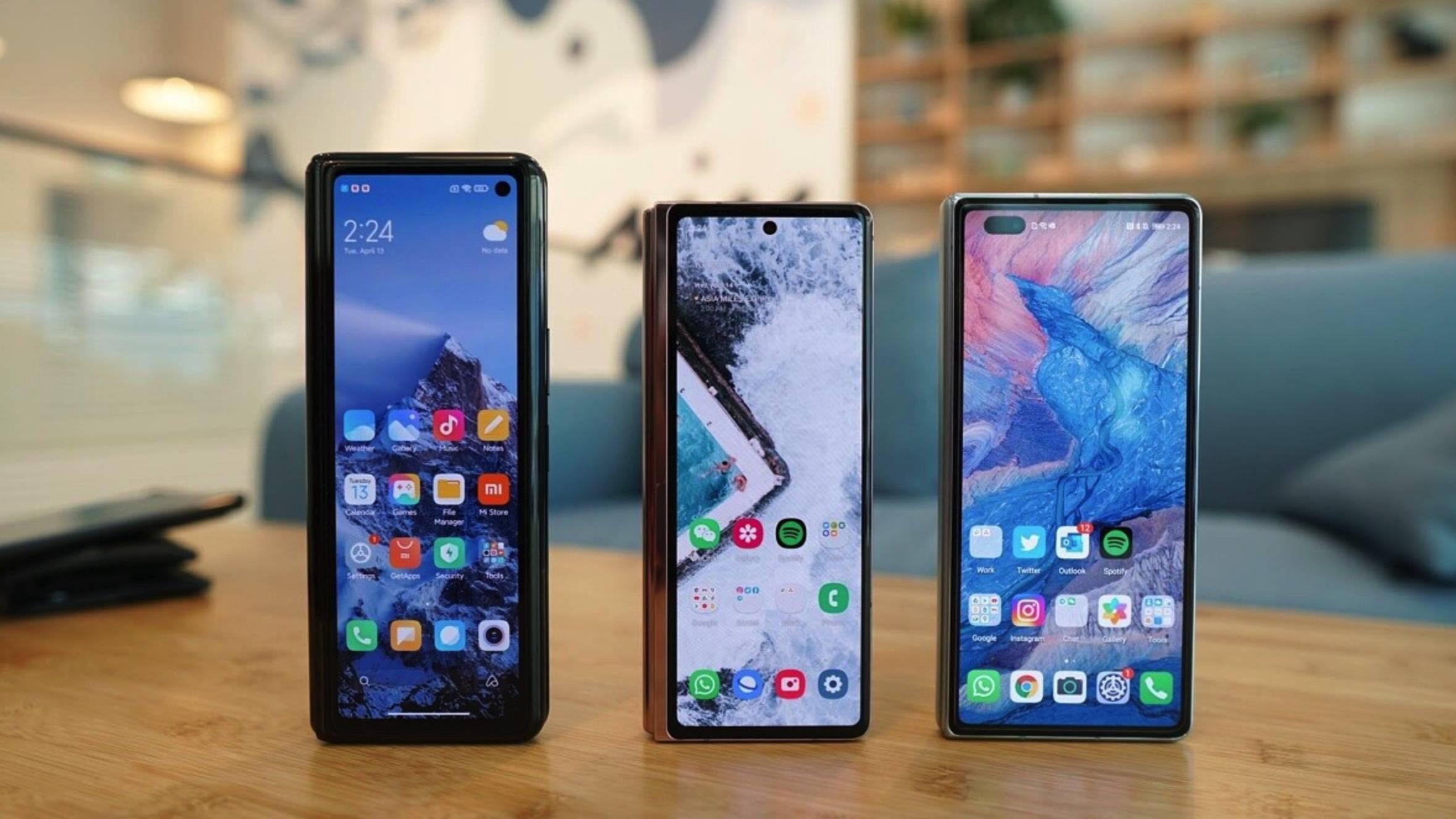 小米 MIX FOLD、三星 Galaxy Z Fold2、华为 Mate X2