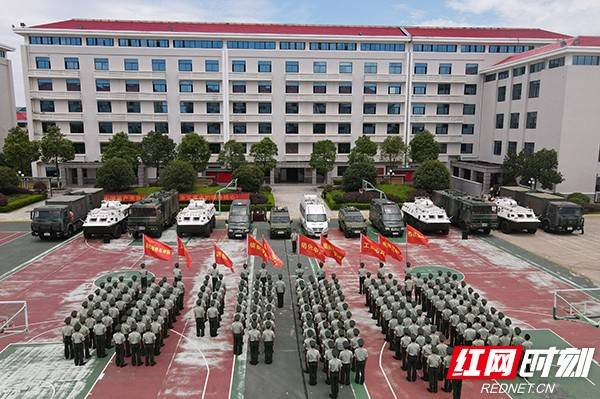 武警湖南总队机动支队百余名新兵下队奔赴基层