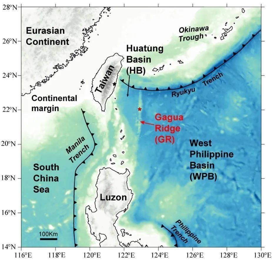 同济大学海洋与地球科学学院周怀阳课题组在菲律宾海加瓜海脊的性质和东南亚陆缘构造演化取得重要进展