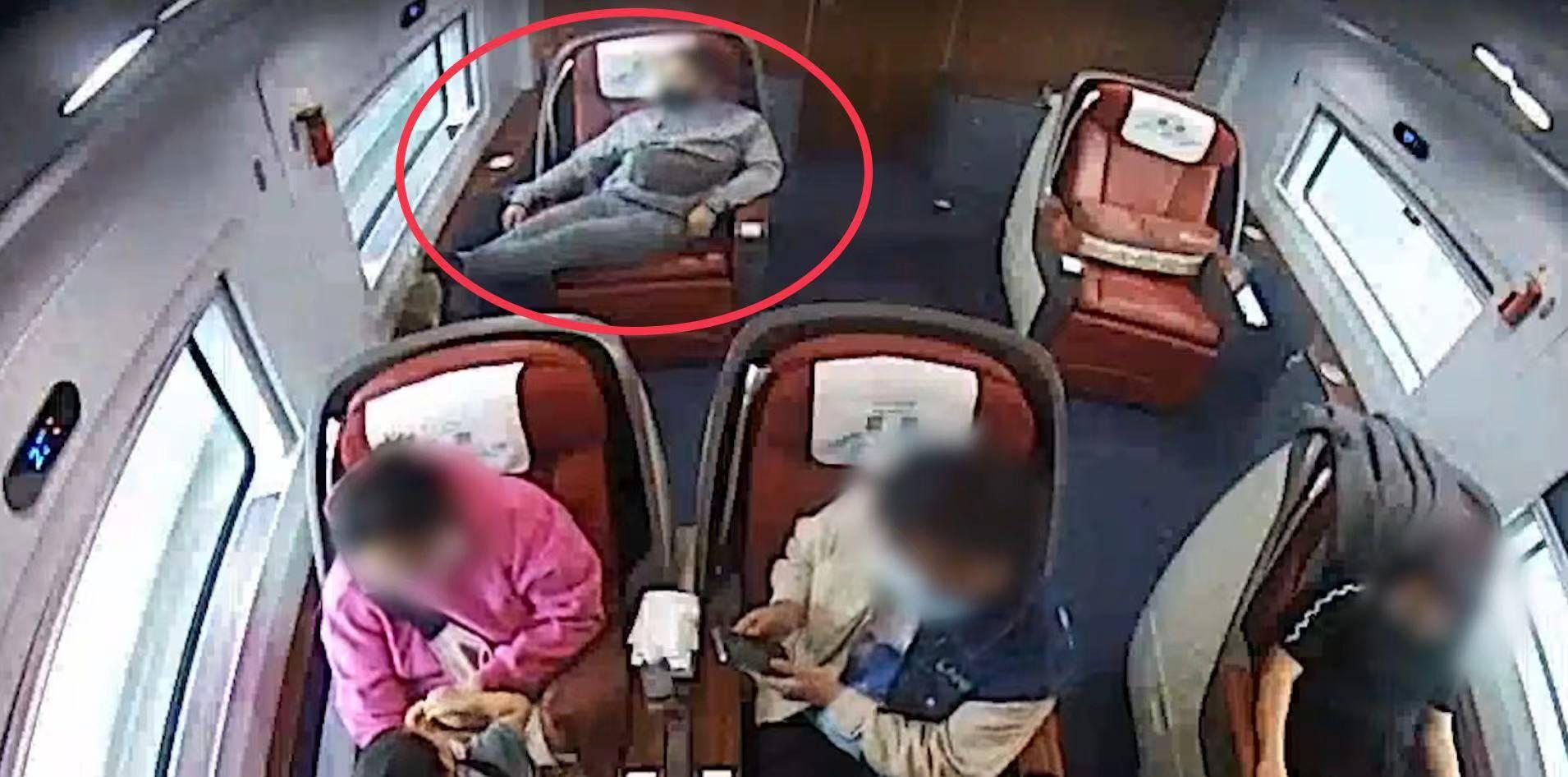 恒宏首页男子在高铁上越席占座、辱骂列车员,因涉嫌寻衅滋事被行政拘留 (图1)