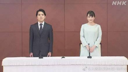 日本真子公主登记结婚后开记者会 与丈夫互表爱意