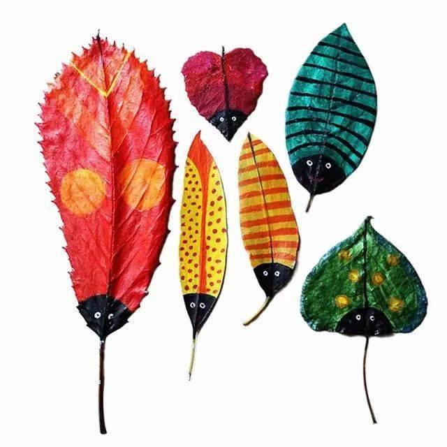 树叶创意新玩法,爱上秋天就是这么简单